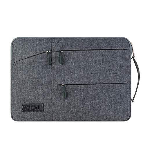 13.3 13 Inch Laptop Bag Sleeve Case Computer Bag Waterproof Padded Nylon Shockproof Notebook Carrying Case for Lenovo/Dell/HP/Huawei/XiaoMi/ASUS/MacBook Air/Pro Retina Pro 13 (13.3', Grey)