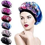 Duufin 6 Pièces Bonnet en Satin Chapeau Cheveux Nuit pour Femme e Fille, 6 Couleurs