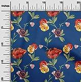 oneOone Jersey Di Viscosa Tessuto fiore & foglie Acquerello Vestire Tessuto Di Stampa Del Tessuto Al Metro 60 Largo Pollici