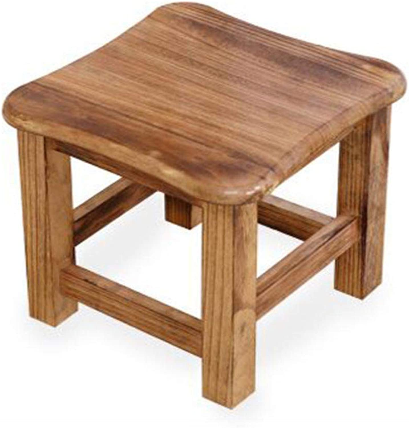 Stool Solid Wood Bench Creative Small Square Stool Change shoes Bench Household Coffee Table Stool GAOFENG (color   Paulownia Light color, Size   30  30  26cm)
