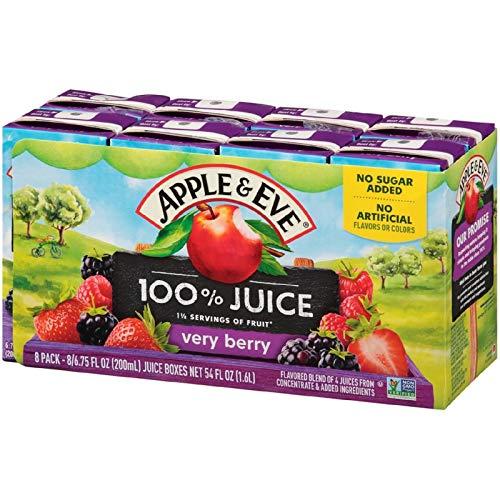 Apple & Eve 100% Juice, Very Berry, 6.75 Fluid-oz, 40 Count
