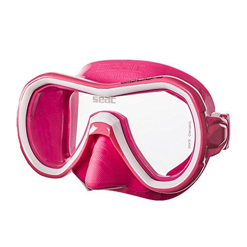 Seac Giglio, Einglasmaske zum Schnorcheln und Tauchen für Erwachsene, rosa
