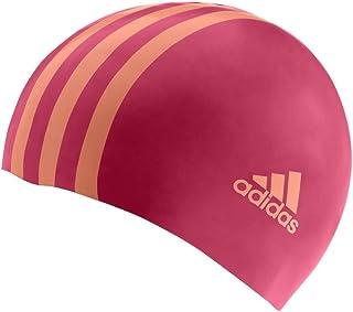 Adidas Childrens 3 Stripe Silicone Cap Pink/Orange