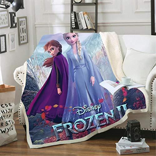 Itscominghome - Manta de franela para sofá, cálida y acogedora, regalo para niña (Disney 5,130 x 150 cm)