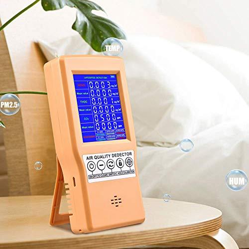 InLoveArts Luftqualität Messgerät, Formaldehyd TVOC HCHO CO2-Gasmonitor, tragbares digitales Luftanalysegerät Staubsensor Luftverschmutzungserkennungsgerät
