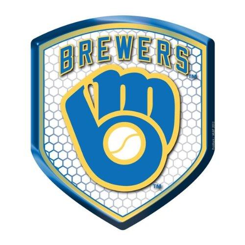 milwaukee brewers MLB Milwaukee Brewers Team Shield Automobile Reflector