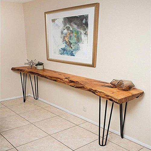 Juego de 4 patas de acero Hahaemall para mesa de madera (sin el tablero), diseño con 3 varillas de