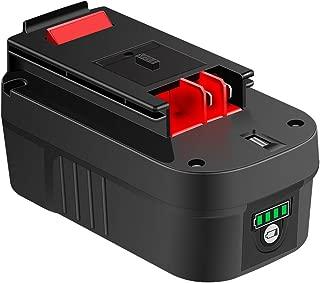 【Upgrade】 DSANKE HPB18 18Volt Lithium-ion 5000mAh Replacement Battery for Black & Decker 244760-00 HPB18 Battery A1718 A18 A18E HPB18-OPE Firestorm FS180BX FS18BX FS18FL FSB18