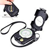 Sportneer Lightweight Military Lensatic Sighting Compass with Inclinometer and Carrying Bag, Waterproof and Shakeproof for Camping, Hiking, Backpacking, Hunting, Boating, Boy Scout