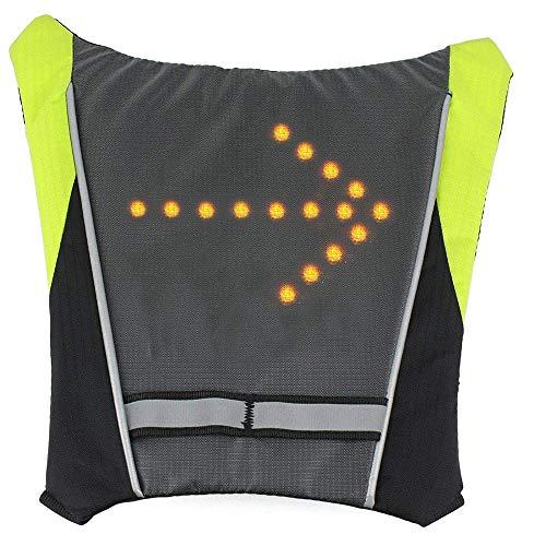 LED Turn Signal Vest, Sac à Dos Bike LED Widget avec télécommande - 4 Indicateur Modes, USB Rechargeable - Convient pour Le Cyclisme, navettage et Courir