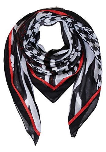 Street One Damen Schal mit Muster Black A