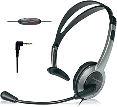 wholesale Panasonic KX-TCA430 online sale Comfort-Fit, Foldable Headset with Flexible Noise-Cancelling discount Microphone and Volume Control, Regular, Grey/Silver online sale