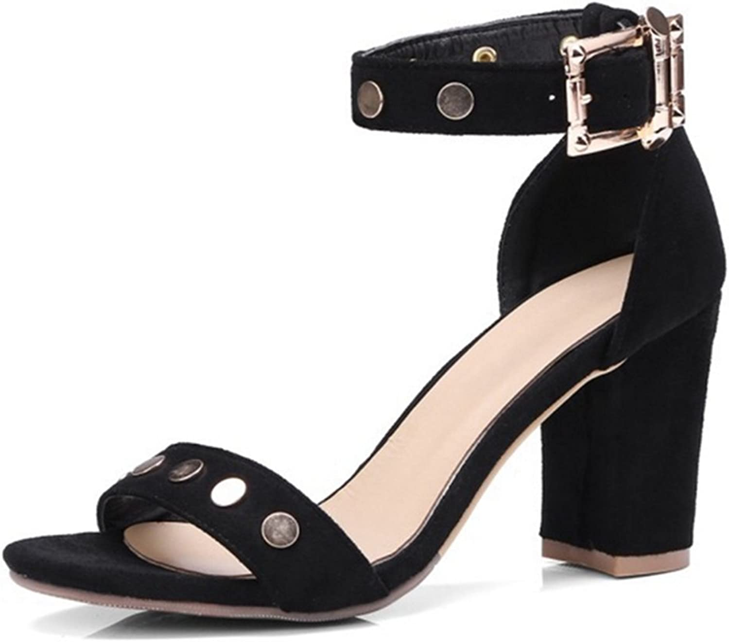 CUTEHEELS All Match Sandals with Chunky Heel and Large for Fashion Women