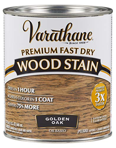 Varathane 262003 Premium Fast Dry Wood Stain, Quart, Golden Oak
