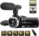 Videocamera 2.7K videocamera Full HD con microfono 30FPS...