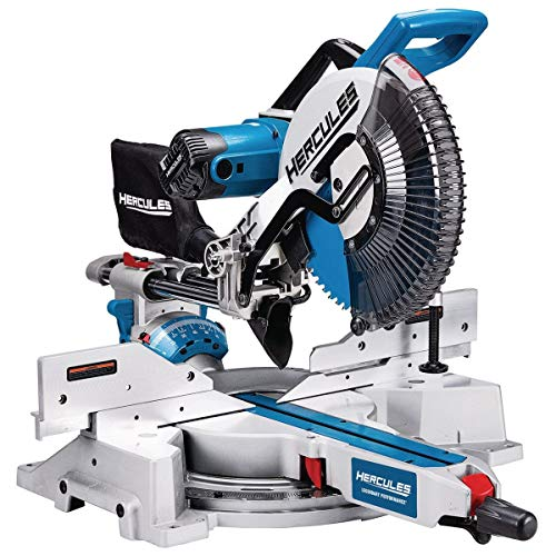 Professional 12 in. Double-Bevel Sliding Compound Miter Saw; Comes with Dust Bag,...