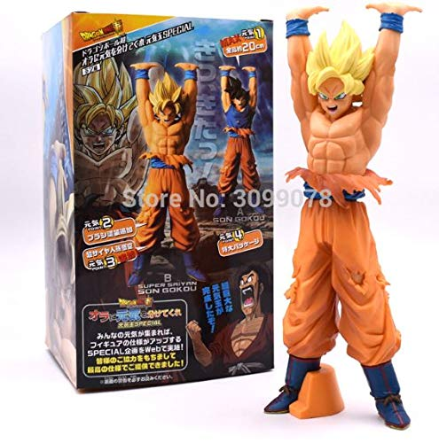 Figur Super Saiyan Son Goku Genkidama Dragon Ball Z DBZ Super Figure Größe 22 cm DB DBZ Super Kollektion Puppe
