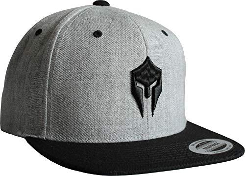 Cap: Sparta - Snapback Flexfit - Basecap - Urban Streetwear - Männer Mann Frau-en - Baseball-cap - Hip-Hop Rap - Mütze - Kappe - Spartan Train Hard - Retro - Gym (Grau)