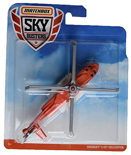 Matchbox Sky Busters Sikorsky S 92 Helicopter, Orange