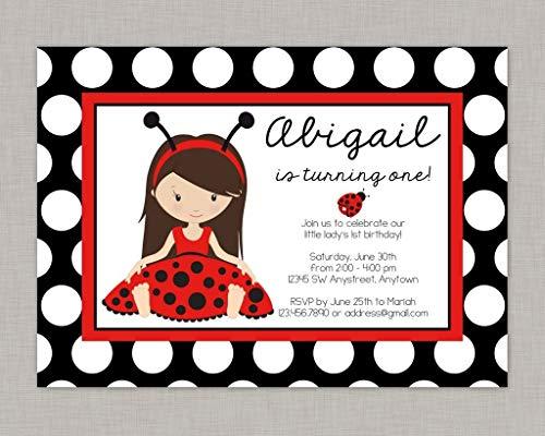 Evan332Eddie Ladybug Einladung Marienkäfer Geburtstag Einladung Marienkäfer Party Little Lady