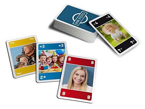 Foto-Meino-Karten mit eigenen Bilder & Texten individualisieren / personalisiertes Kartenspiel für die ganze Familie / Doppel-Satz (2 x 55 Karten)