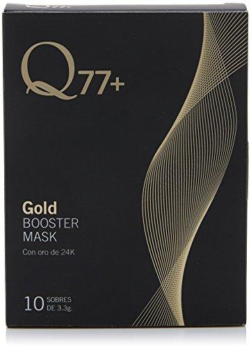 Q77 Gold Booster Mask - Mascarilla con oro de 24K, Pack de