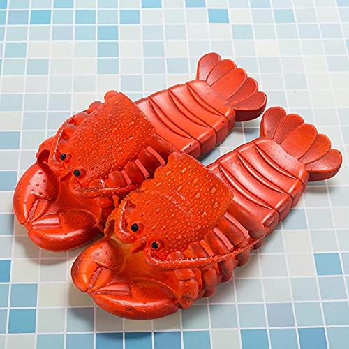 LLGG Antideslizantes Playa Piscina Ducha Sandalias,Grúas, Sandalias, Sandalias de baño de Masaje.-Rojo Oscuro_42-43,Suela Suave Zapatos De Piscina Casa