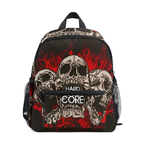 Rucksack Bag Skull Hardcore Rucksack für Jungen und Mädchen Cute Outdoor Casual Daypack