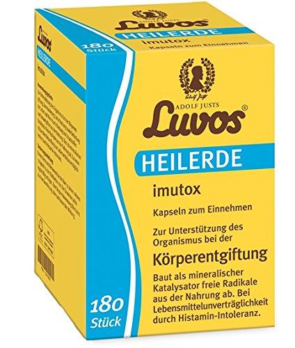 Luvos-Heilerde imutox Spar-Set 2x120 Kapseln. Zur Unterstützung des Organismus bei der Körperentgiftung durch Bindung von Schadstoffen und Umweltgiften aus der Nahrung.