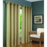 Beige Brooke Thermalogic Blackout Grommet Curtain Panel By Commonwealth