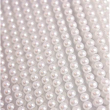 400x autocollant Perles 5mm superbe petit rond blanc perle Stick sur adhésif perles ornements