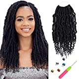14 inch Crochet Braiding Hair Low Temperature Fiber Crochet Bomb Twist Hair 84 strands/pack Bump Spring Twist Crochet Soft Braiding Hair(1B#)