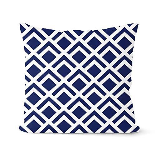 PPMP Funda de cojín Azul Marino, Funda de Almohada geométrica, Almohada Decorativa, decoración del hogar, Funda de Almohada, Funda de cojín A9, 45x45cm, 2pcs