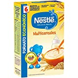 Nestlé Multicereales - Papilla de cereales instantánea de fácil disolución - Papillas Para bebés 500 g - [pack de 3]