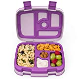 Bentgo Kids Children's Lunch Box - Leak-Proof, 5-Compartment Bento-Style Kids Lunch Box - Ideal Portion Sizes for Ages 3 to 7 - BPA-Free, Dishwasher Safe, Food-Safe Materials (Purple)