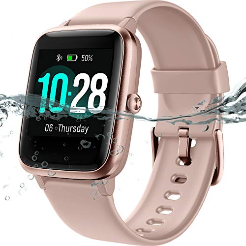 MSRVI Smartwatch with Heart Rate Monitor, IP68 Waterproof Pedometer Watches for Men Women Fitness Tracker Watch with Step Tracker Calories Sleep Monitor, Smart Watches for Android iOS Phones Pink