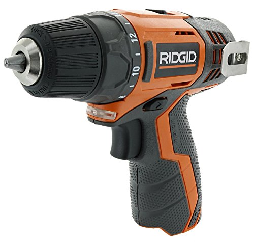 Ridgid R82005 Genuine OEM 3/8 Inch 12V Lithium Ion Brushless and Cordless 300 In-Lbs Drill / Driver (Battery Not Included, Power Tool Only) (Renewed)