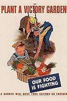 ERZAN1000ピース ジグソーパズルWPA戦争プロパガンダ植物戦時農園私たちの食べ物は庭と戦っていますあなたの配給をさらに進めるでしょう完成サイズ70×50cm
