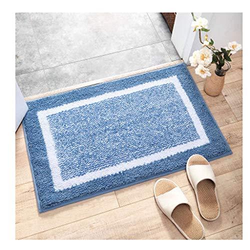 Zhanghuanping Moderne minimalistische dikke mat mat deurmat huis slaapkamer badkamerdeur badkamer anti-slip matten absorberend een verscheidenheid aan kleuren maten (40 * 60cm) (50 * 80cm)
