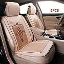 Autositzbezug Set 2 Stücke Polyester Atmungsaktive Innen Zubehör Automotive Stuhl Schutzhülle Belüftungskissen für Die Meisten Autos
