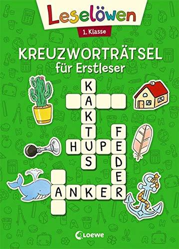 Leselöwen Kreuzworträtsel für Erstleser - 1. Klasse (Grün) (Leselöwen Rätselwelt)