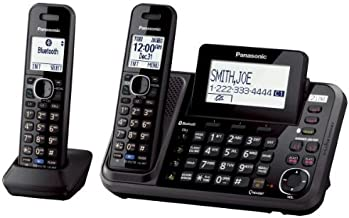 Panasonic 2-Line Cordless Phone System with 2 Handsets – Answering Machine,..