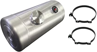 10x18 End Fill - Round Spun Aluminum Gas Tank w/Site Gauge - 6 Gallon - Tractor Puller - Hotrod - Gassers, Trike, Sandrail, Offroad - 1/4 NPT - Made in the USA!
