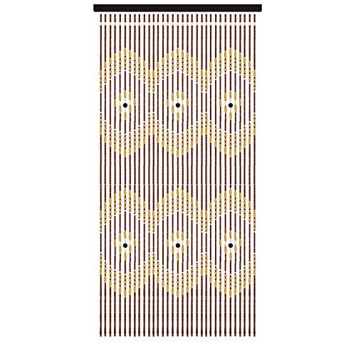 Cortinas de Abalorios de Madera, Cortinas de Abalorios, mamparas de salón, Estilo Retro, Cortinas Hechas a Mano, armarios de partición, 32 Hilos, 90 × 180 cm