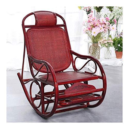 Muebles para el Hogar Silla cómoda meditación Silla Mecedora de mimbre Silla Viejo hombre feliz...