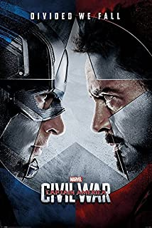 Captain America 3: Civil War - Marvel Movie Poster/Print (Regular Style - Divided We Fall) (Size: 24 inches x 36 inches)