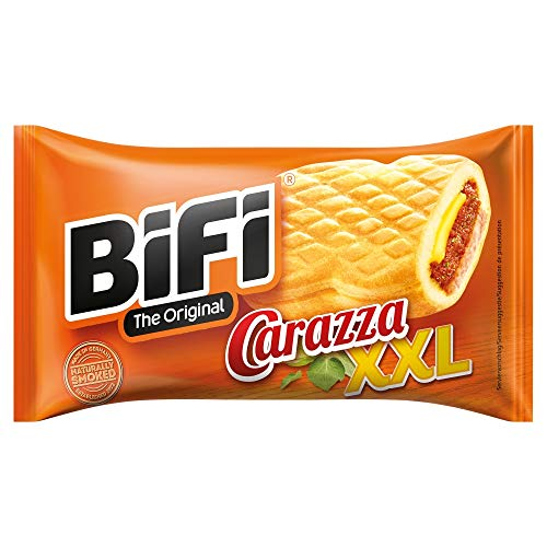 BiFi Carazza Original XXL – Herzhafter Pizzasnack zum Mitnehmen – 1 x 75 g