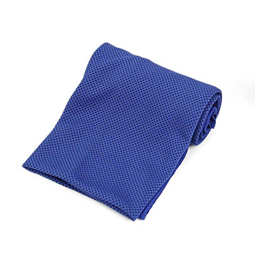 N/D Outdoor Sport Ice Towel Rapid Instant Cooling Microfiber Quick-Dry Ice Towels Fitness Yoga Gym Running Wipe Sweat Chill Towels (Dark Blue)