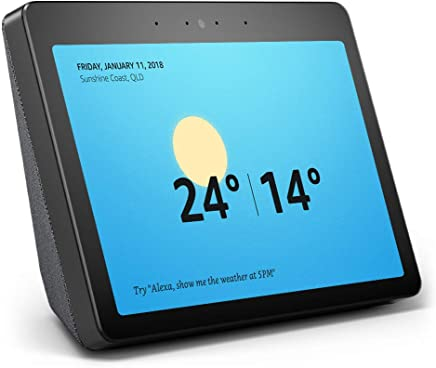"All-new Echo Show (2nd gen) - Premium sound and a vibrant 10"" HD screen – Charcoal Fabric"