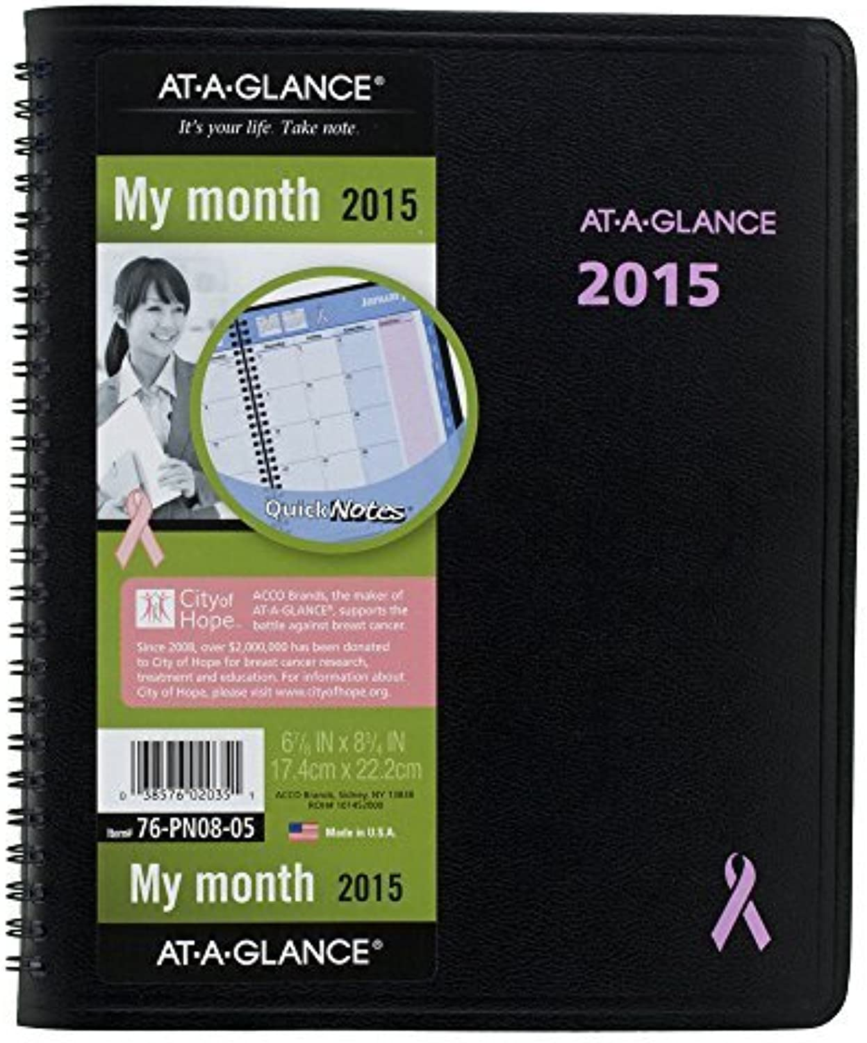 AT-A-GLANCE Monthly Planner 2015, QuickNotes, Special Edition, 6.88 x 8.75 Inch Page Größe, schwarz (76-PN08-05) by At-A-Glance B0141N62JY | Ausgewählte Materialien